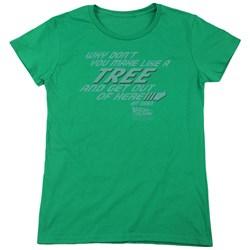 Back To The Future - Womens Make Like A Tree T-Shirt