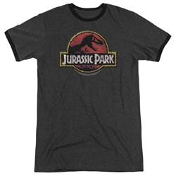 Jurassic Park - Mens Stone Logo Ringer T-Shirt