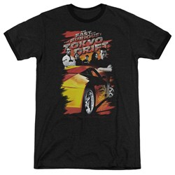 Tokyo Drift - Mens Drifting Crew Ringer T-Shirt