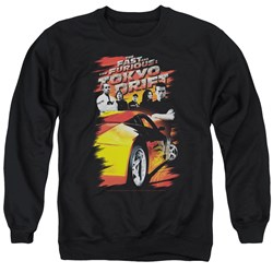 Tokyo Drift - Mens Drifting Crew Sweater