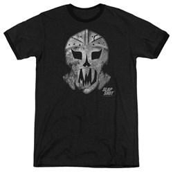 Slap Shot - Mens Goalie Mask Ringer T-Shirt
