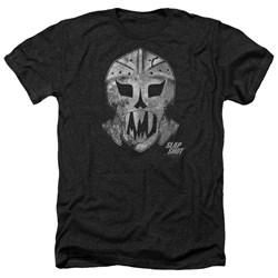 Slap Shot - Mens Goalie Mask Heather T-Shirt