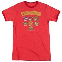 Land Before Time - Mens I Dig Dinos Ringer T-Shirt