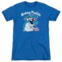 Chilly Willy - Mens Making Friends Ringer T-Shirt