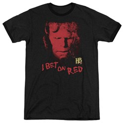 Hellboy II - Mens I Bet On Red Ringer T-Shirt
