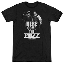 Hot Fuzz - Mens Here Come The Fuzz Ringer T-Shirt