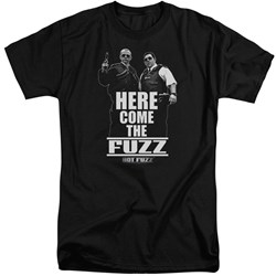 Hot Fuzz - Mens Here Come The Fuzz Tall T-Shirt