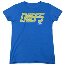 Slap Shot - Womens Chiefs Logo T-Shirt