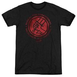 Hellboy II - Mens Bprd Logo Ringer T-Shirt