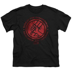 Hellboy II - Big Boys Bprd Logo T-Shirt
