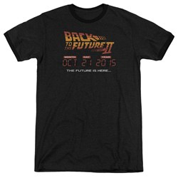 Back To The Future Ii - Mens Future Is Here Ringer T-Shirt