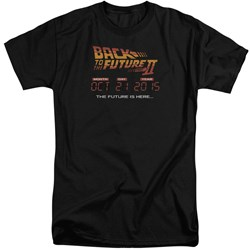Back To The Future II - Mens Future Is Here Tall T-Shirt