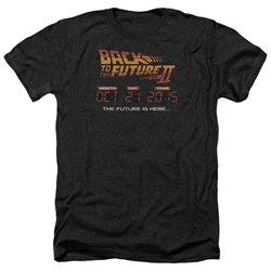 Back To The Future II - Mens Future Is Here Heather T-Shirt