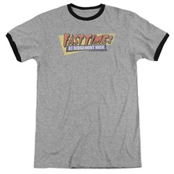 Fast Times Ridgemont High - Mens Distressed Logo Ringer T-Shirt
