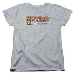 Fast Times Ridgemont High - Womens Distressed Logo T-Shirt