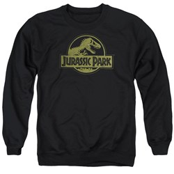 Jurassic Park - Mens Distressed Logo Sweater