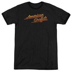 American Grafitti - Mens Neon Logo Ringer T-Shirt