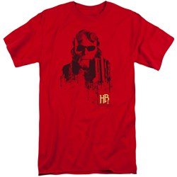 Hellboy II - Mens Splatter Gun Tall T-Shirt