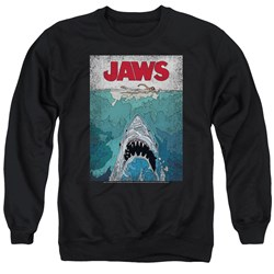 Jaws - Mens Lined Poster Sweater