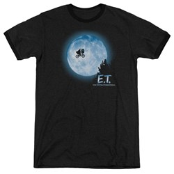Et - Mens Moon Scene Ringer T-Shirt