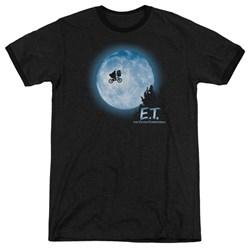 Et - Mens Moon Scene Ringer T-Shirt