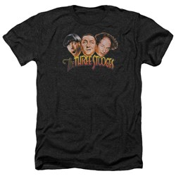Three Stooges - Mens Three Head Logo Heather T-Shirt