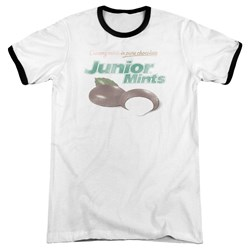 Tootsie Roll - Mens Junior Mints Logo Ringer T-Shirt