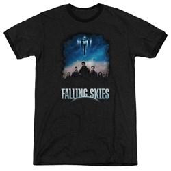 Falling Skies - Mens Main Players Ringer T-Shirt