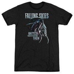 Falling Skies - Mens Battle Or Become Ringer T-Shirt