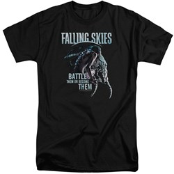 Falling Skies - Mens Battle Or Become Tall T-Shirt