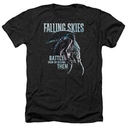 Falling Skies - Mens Battle Or Become Heather T-Shirt
