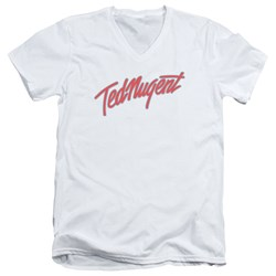 Ted Nugent - Mens Clean Logo V-Neck T-Shirt