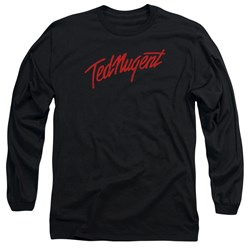 Ted Nugent - Mens Distress Logo Long Sleeve T-Shirt