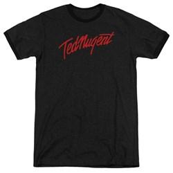 Ted Nugent - Mens Distress Logo Ringer T-Shirt
