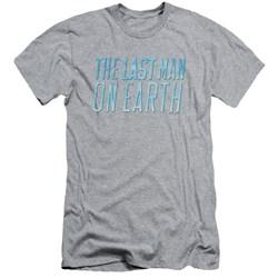 Last Man On Earth - Mens Logo Premium Slim Fit T-Shirt