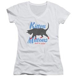 Its Always Sunny In Philadelphia - Juniors Kitten Mittons V-Neck T-Shirt