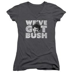 Revenge Of The Nerds - Juniors We'Ve Got Bush V-Neck T-Shirt
