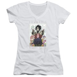 Edward Scissorhands - Juniors Salon V-Neck T-Shirt