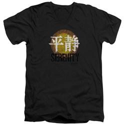 Firefly - Mens Serenity Logo V-Neck T-Shirt