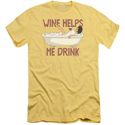 Bobs Burgers - Mens Wine Helps Slim Fit T-Shirt