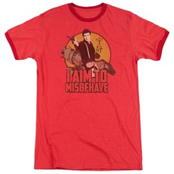 Firefly - Mens I Aim To Misbehave Ringer T-Shirt