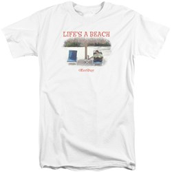 Office Space - Mens Lifes A Beach Tall T-Shirt
