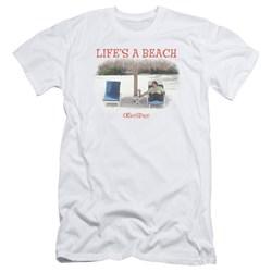 Office Space - Mens Lifes A Beach Premium Slim Fit T-Shirt