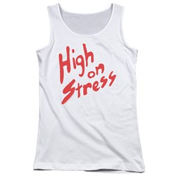 Revenge Of The Nerds - Juniors High On Stress Tank Top