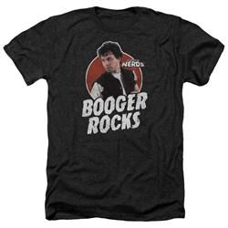 Revenge Of The Nerds - Mens Booger Rocks Heather T-Shirt