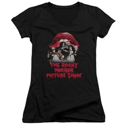 Rocky Horror Picture Show - Juniors Casting Throne V-Neck T-Shirt