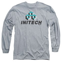 Office Space - Mens Initech Logo Long Sleeve T-Shirt