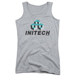 Office Space - Juniors Initech Logo Tank Top