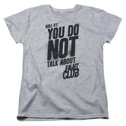 Fight Club - Womens Rule 1 T-Shirt