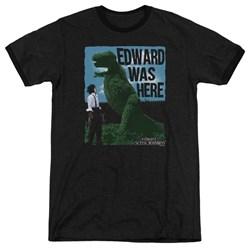Edward Scissorhands - Mens Edward Was Here Ringer T-Shirt